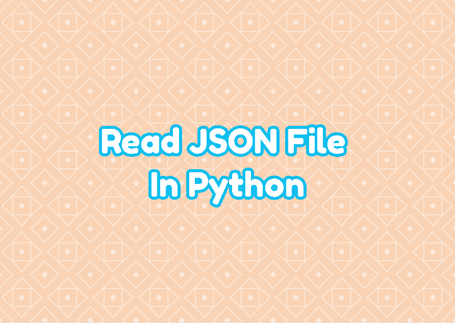 Read JSON File In Python