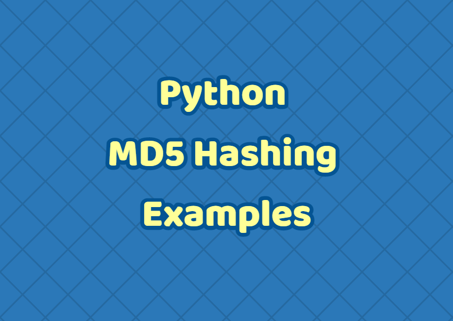 Python MD5 Hashing Examples